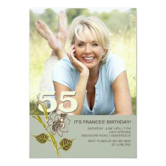 55th Birthday Photo Invitation