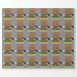 [ Thumbnail: 55th Birthday: Spooky Halloween Theme, Custom Name Wrapping Paper ]
