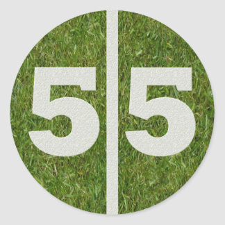 55th Birthday Yard Sticker