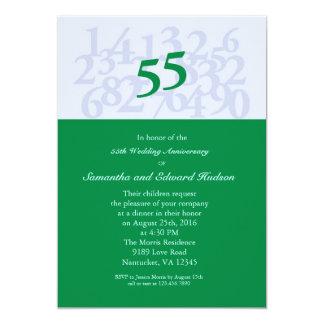 55th Emerald Wedding Anniversary Invitation