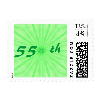 55th Geometric Emerald Wedding Anniversary Stamps
