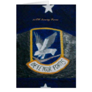55TH Security Forces Card