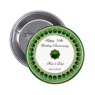 55th Wedding Anniversary Button