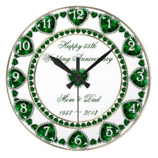 55th Wedding Anniversary Clock