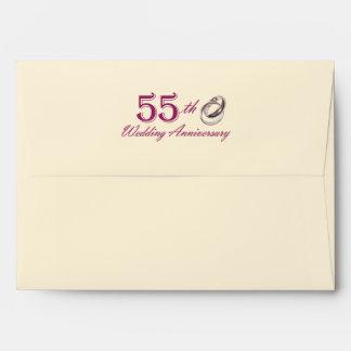 55th Wedding Anniversary Customizable Envelopes