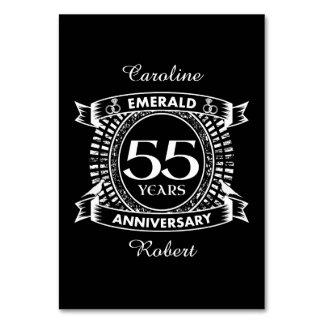 55th wedding anniversary emerald crest card