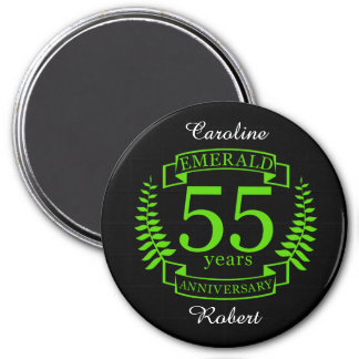 55th Wedding ANNIVERSARY EMERALD Magnet