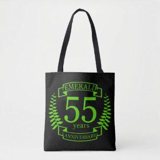 55th Wedding ANNIVERSARY EMERALD Tote Bag