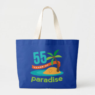 55th Wedding Anniversary Funny Gift For Her Large Tote Bag