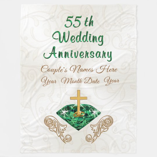 55th Wedding Anniversary Gift Personalized Blanket Zazzle