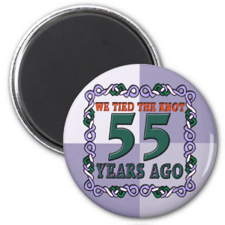 55th Wedding Anniversary Gifts 2 Inch Round Magnet