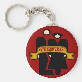 55th Wedding Anniversary Gifts Basic Round Button Keychain