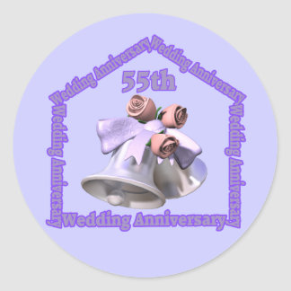 55th Wedding Anniversary Gifts Classic Round Sticker