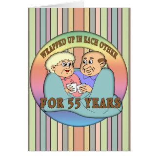 55th Wedding Anniversary Gifts Greeting Card