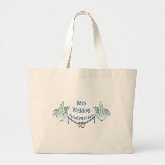 55th Wedding Anniversary Gifts Jumbo Tote Bag