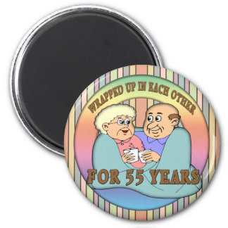 55th Wedding Anniversary Gifts Magnet