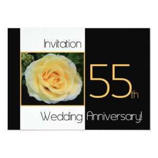 55th Wedding Anniversary Invitation - Yellow Rose