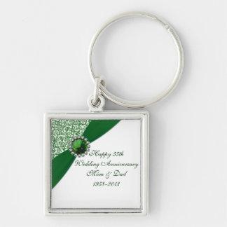 55th Wedding Anniversary Key Chain