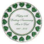 55th Wedding Anniversary Plate