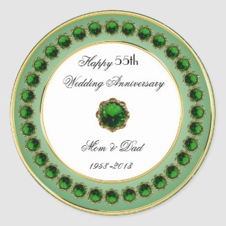 55th Wedding Anniversary Sticker