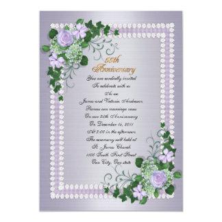 55th Wedding anniversary vow renewal Lavender Card
