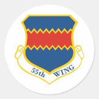 55th Wing Classic Round Sticker