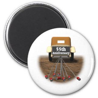 55thanniversaryt-shirts3 2 inch round magnet