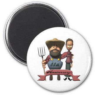 55thanniversaryt-shirts4 2 inch round magnet