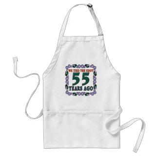 55thweddinganniversary adult apron