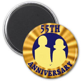 55thweddinganniversaryb4 2 inch round magnet