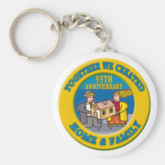 55thweddinganniversaryb6 basic round button keychain