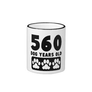 560 Dog Years Old Ringer Mug