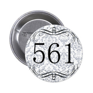561 Area Code Pinback Buttons