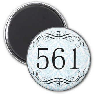 561 Area Code Magnet
