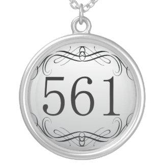 561 Area Code Necklaces
