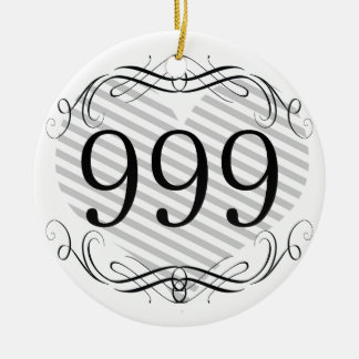 561 Area Code Double-Sided Ceramic Round Christmas Ornament