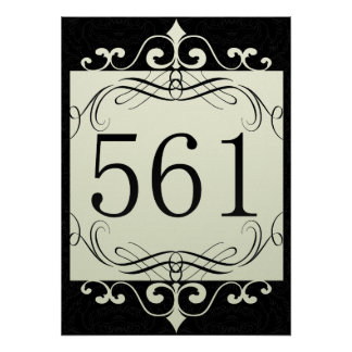 561 Area Code Posters