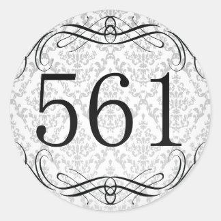 561 Area Code Classic Round Sticker