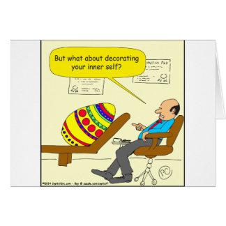 562 Easter egg inner self cartoon Card