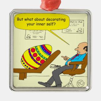 562 Easter egg inner self cartoon Metal Ornament