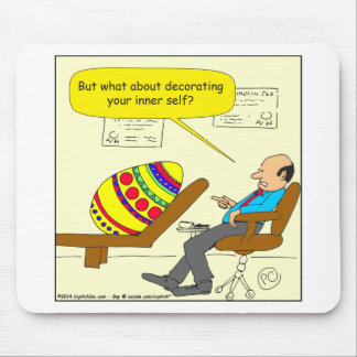 562 Easter egg inner self cartoon Mouse Pad