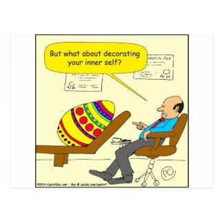 562 Easter egg inner self cartoon Postcard