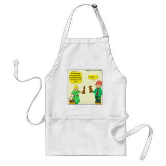 564 Easter bunny says what cartoon Adult Apron