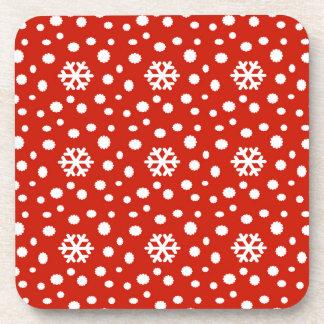 566 Cute Christmas snowflake pattern.jpg Coaster