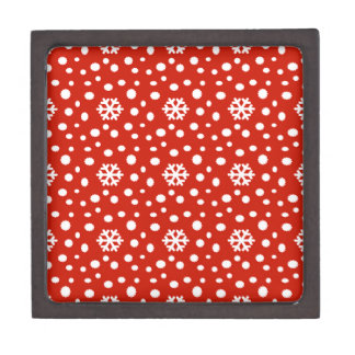 566 Cute Christmas snowflake pattern.jpg Jewelry Box