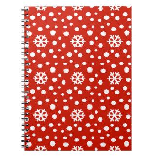 566 Cute Christmas snowflake pattern.jpg Spiral Notebook