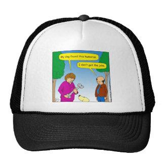 566 My dog found this humorous cartoon Trucker Hat