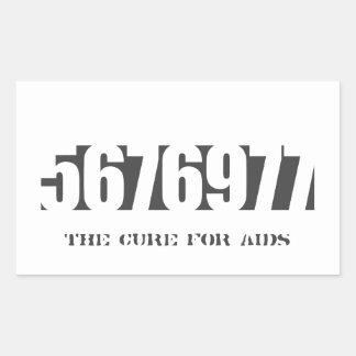 5676977 - La curación (añada para poseer el texto) Pegatina Rectangular