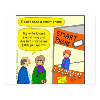 568 smart phone cartoon postcard