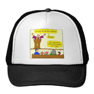 569 like science cartoon trucker hat